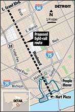 Detroit - Proposed Light Rail Plan