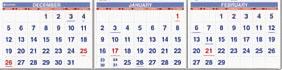 three-months-calendar